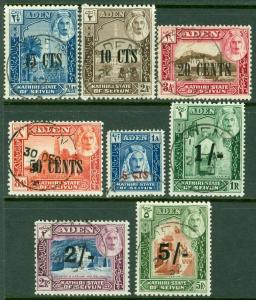 EDW1949SELL : ADEN Seyiun Scott #20-27 Very Fine, Used with nice cancels Cat $91