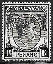 Malaya - Penang 3 Unused/Hinged - George VI