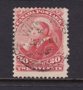 Canada a good/fine used QV 20c from 1893