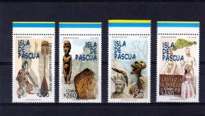 Chile 2000 Easter Island-Dancer-Carvings Set(4) Sc#1321/1324 MNH VF