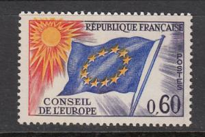 France Council of Europe SC# 1O14  1965 Flag MH