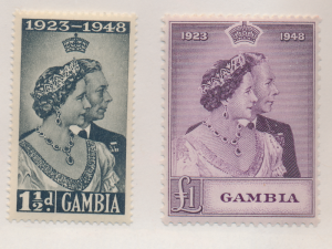 Gambia Stamps Scott #146 To 147, Mint Never Hinged, Silver Wedding - Free U.S...