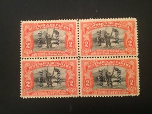 US Canal Zone 43 Block of 4 VF NH tropical gum LL Stamp w/thin