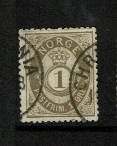 Norway SC# 22, Used, some minor bending - S9203