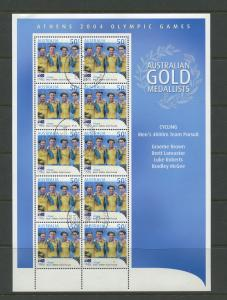 AUSTRALIA # Athens 2004 CTO Page of 10 X 45c Stamps
