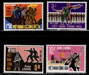 South Vietnam Scott 358-361 MNH** Civilian Soldier set