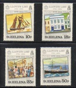 St Helena Sc 412-15 1984 Lloyds List stamp set mint NH