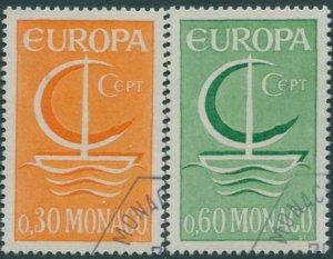 Monaco 1966 SG856-857 Europa ship set FU