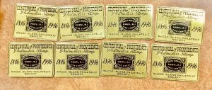 10 CINDERELLA 1946  CENTENNIAL of PROVIDENCE  RHODE ISLAND PHILATELIC Society