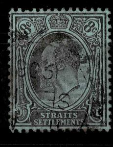 Malaya Straits Settlements 1903-4 SG#126, 8c Purple/Blue KEVII Used