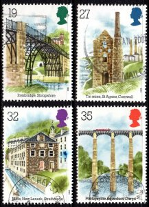 1989 Sg 1440/3 Industrial Archaeology Fine Used Set of 4