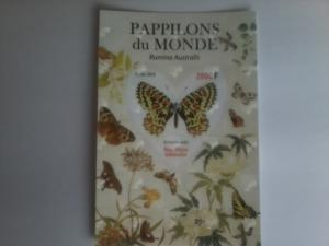 GABON SHEET 2D TWO DIMENSIONS BUTTERFLIES INSECTS