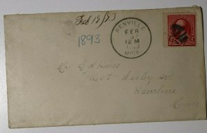 US Sc#220 Used On Cover 1893 Hamline MN Station Renville Postmark Cancel