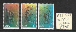 Malta MNH 769-71 Christmas 1985