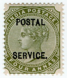 (I.B) India Revenue : Postal Service 4a