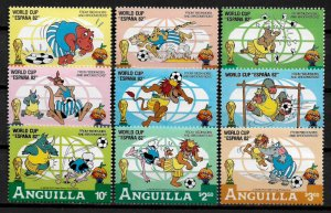 Anguilla #492-500 MNH Set - Disney - World Cup Soccer