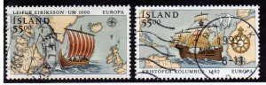 ICELAND 749-50 USED SCV $4.50 BIN $1.80 SHIPS