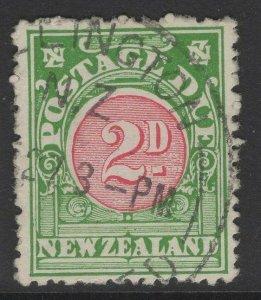 NEW ZEALAND SGD31x 1926 2d CARMINE & GREEN WMK REVERSED FINE USED
