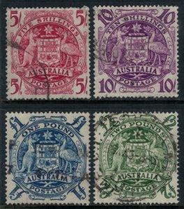 Australia #218-21  CV $37.35