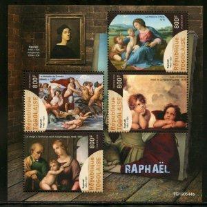 TOGO 2019 RAPHAEL PAINTINGS SHEET  MINT NH