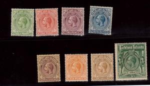 Falkland Islands #41 - #48 VF Mint Set