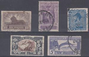 New Zealand Scott 168,169,182,189,192 Used (Catalog Value $105.00)