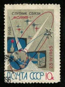 Communication satellite Molniya-1 04/23/1965, Space, 1965 (T-8082)