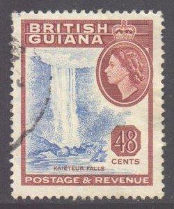 British Guiana Scott 263 - SG341, 1954 Elizabeth II 48c used