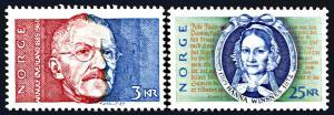 Norway 948-949, MNH, Arnulf Overland and Hanna Winsnes