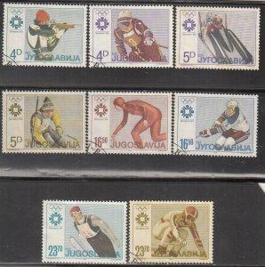 Yugoslavia, Sc 1664-1671 (2), Used, 1984, Winter Olympics