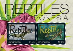 Micronesia - Reptiles - 2 Stamp  Sheet MIC1116S