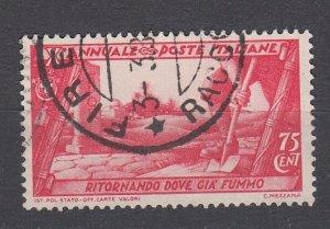 J29693, 1930 italy used #299 ruins