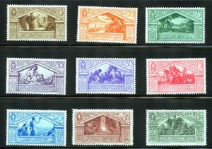 Italy #248-256, complete set.  MNH/MLH/MH - 2019 SCV $387