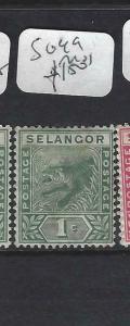 MALAYA SELANGOR  (P0702B)  1C  TIGER  SG  49   MOG