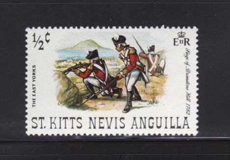 St Kitts-Nevis 245 MNH Military, Soldiers, East Yorks (A)