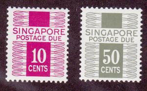 Singapore # J 5ab & J8ab, mint, lightly hinged