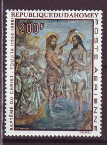 J15321 JLstamps 1968 dahomey hv of set mh #c92 art