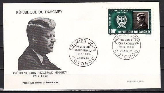 Dahomey, Scott cat. C30. President John Kennedy issue. First day cover