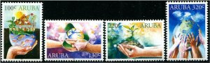 HERRICKSTAMP NEW ISSUES ARUBA Earth Day 50th Anniv.