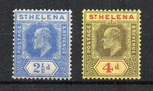 St Helena 1908-11 2 1/2d and 4d MLH