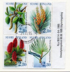 Finland Sc 969a 1995 Forestry Congress stamp booklet pane used