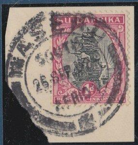 BASUTOLAND 1933 Sth Africa 1d  MASERU cds on piece..........................N403