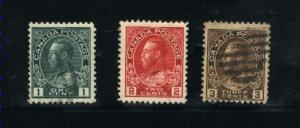 Canada #104, 106, 108  used     PD