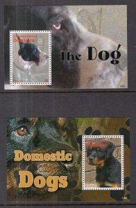 Dominica 2787-2788 Dogs Souvenir Sheets MNH VF