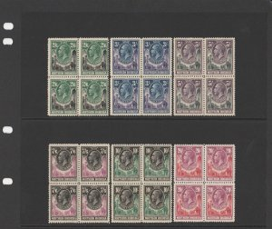 NORTHERN RHODESIA : 1925 KGV Elephants set blocks. MNH **. Extremely rare.
