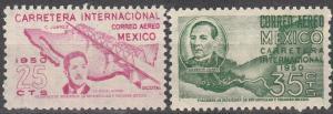 Mexico #C199-200 F-VF Unused  CV $3.30  (SU6058L)