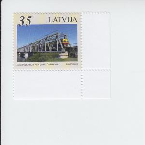 2012 Latvia Railway Bridges (Scott 815) MNH
