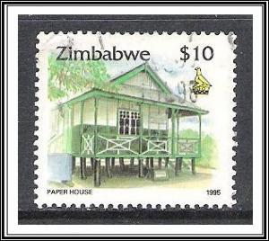 Zimbabwe #735 Paper House Used