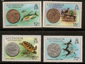 ASCENSION SG363/6 1984 NEW COINAGE  MNH