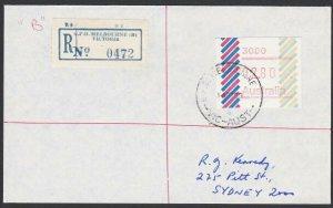 AUSTRALIA 1985 (14 Feb)  $2.80 Frama on Registered cover ex Melbourne.......E185